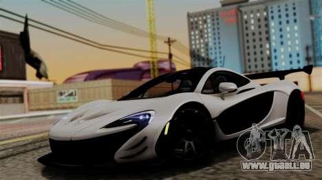 McLaren P1 GTR-VS 2013 pour GTA San Andreas sur la vue arrière gauche