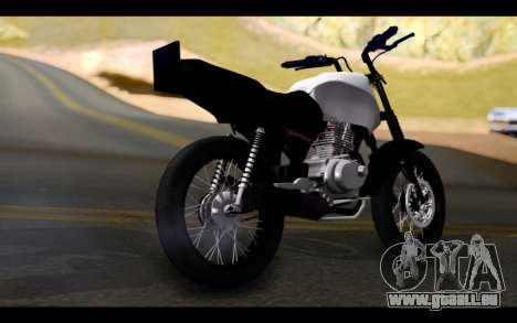 Honda CG Titan 150 Stunt Imitacion für GTA San Andreas linke Ansicht