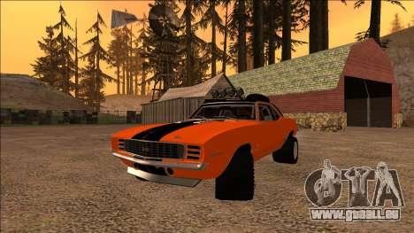 Chevrolet Camaro SS Rusty Rebel für GTA San Andreas Rückansicht