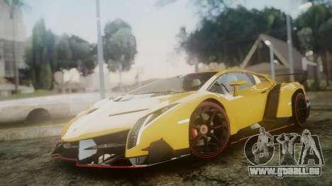 Lamborghini Veneno 2012 pour GTA San Andreas sur la vue arrière gauche