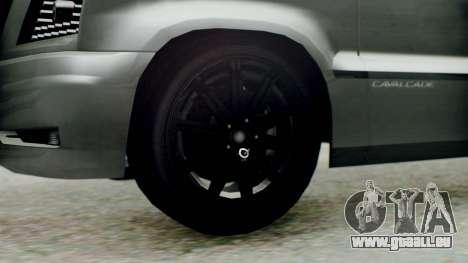 GTA 5 Albany Cavalcade II pour GTA San Andreas sur la vue arrière gauche