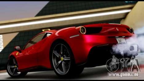 Ferrari 488 GTB 2016 pour GTA San Andreas laissé vue