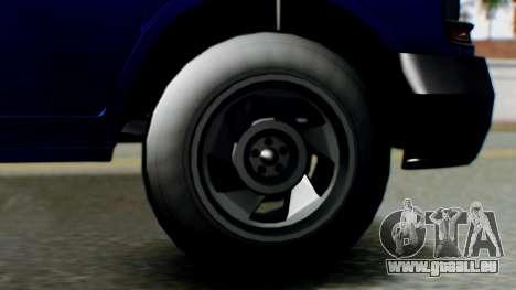 GTA 5 Vapid Speedo für GTA San Andreas zurück linke Ansicht