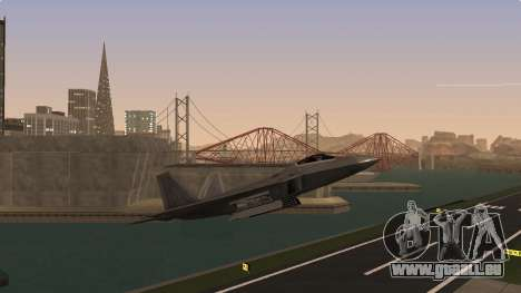 F-22 Raptor PJ für GTA San Andreas zurück linke Ansicht