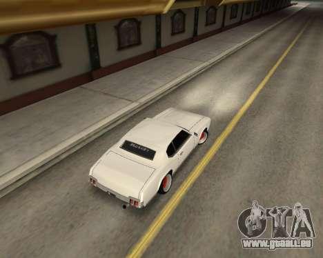 Sabre Boso pour GTA San Andreas sur la vue arrière gauche