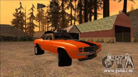 Chevrolet Camaro SS Rusty Rebel für GTA San Andreas Innenansicht