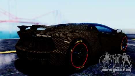 Lamborghini Aventador Mansory Carbonado pour GTA San Andreas laissé vue