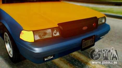 Vapid Taxi pour GTA San Andreas vue intérieure