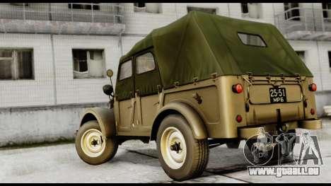 GAZ-69A FIV pour GTA San Andreas laissé vue
