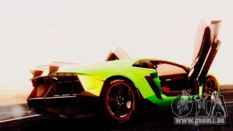 Lamborghini Aventador Mansory pour GTA San Andreas laissé vue