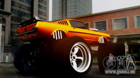 Ford Mustang 1966 Chrome Edition v2 Monster für GTA San Andreas rechten Ansicht