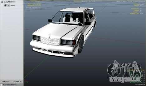 GTA 5 Mercedes-Benz 190E Evolution v1.1 rechte Seitenansicht