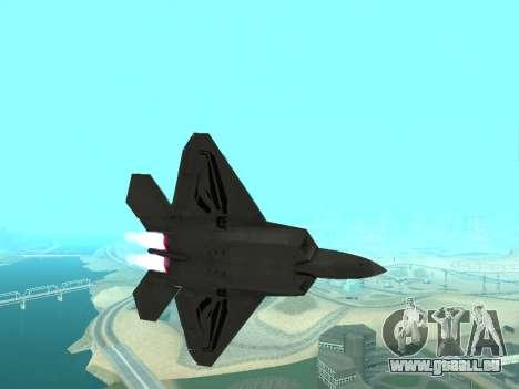 F-22 Raptor für GTA San Andreas linke Ansicht
