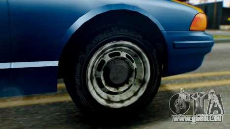 Vapid Taxi für GTA San Andreas zurück linke Ansicht