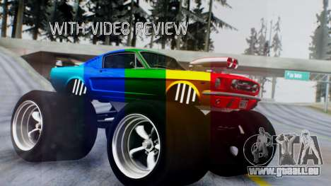 Ford Mustang 1966 Chrome Edition v2 Monster pour GTA San Andreas