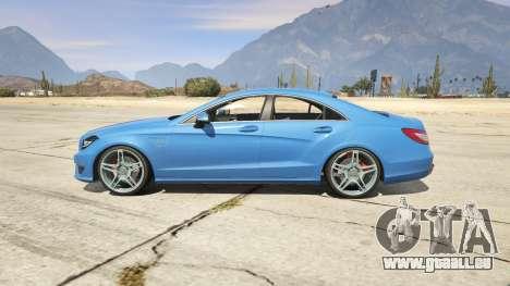 GTA 5 Mercedes-Benz CLS 6.3 AMG 1.1 arrière vue latérale gauche