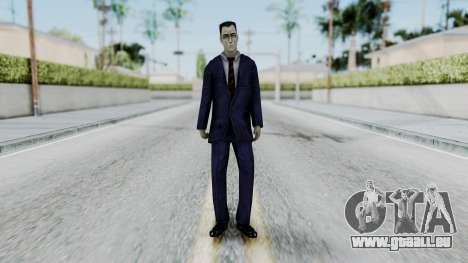 GMAN v2 from Half Life pour GTA San Andreas deuxième écran