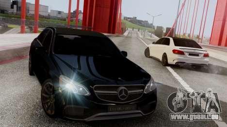 Mercedes-Benz E63 AMG PML Edition pour GTA San Andreas laissé vue