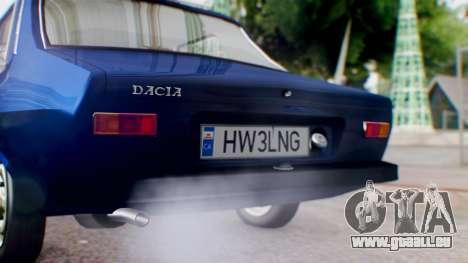 Dacia 1300 v2 für GTA San Andreas Rückansicht