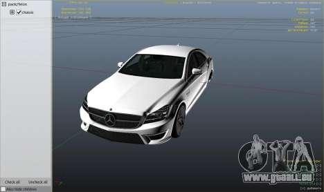 GTA 5 Mercedes-Benz CLS 63 AMG v.1.2 droite vue latérale