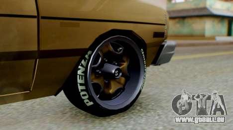 Dodge Dart 1975 Estilo Drag für GTA San Andreas zurück linke Ansicht