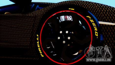 Lamborghini Aventador Mansory Carbonado pour GTA San Andreas sur la vue arrière gauche
