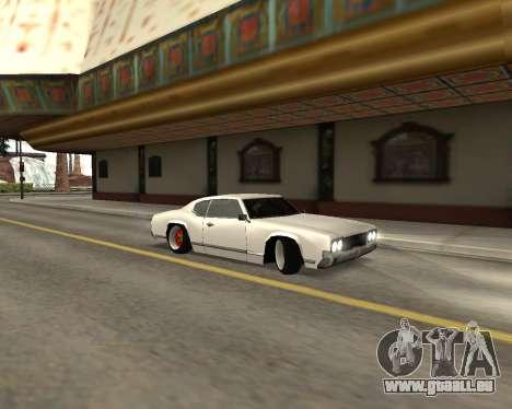 Sabre Boso pour GTA San Andreas laissé vue