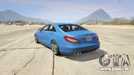 GTA 5 Mercedes-Benz CLS 6.3 AMG 1.1 vue latérale gauche