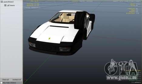 GTA 5 1984 Ferrari Testarossa 1.9 rechte Seitenansicht