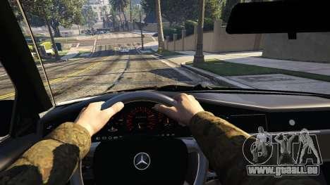 GTA 5 Mercedes-Benz 190E Evolution v1.1 hinten rechts