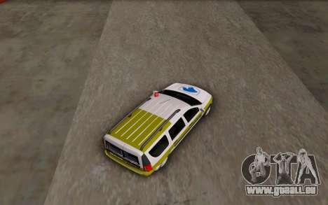 Dacia Logan Emdad Khodro für GTA San Andreas zurück linke Ansicht