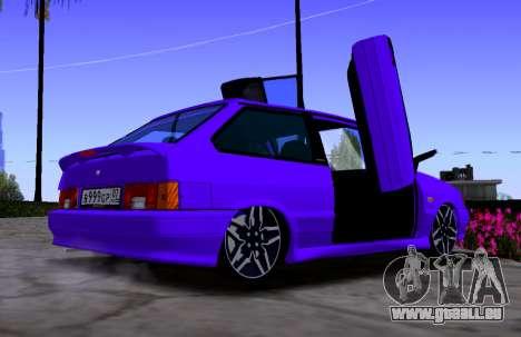 VAZ 2113 KBR pour GTA San Andreas sur la vue arrière gauche