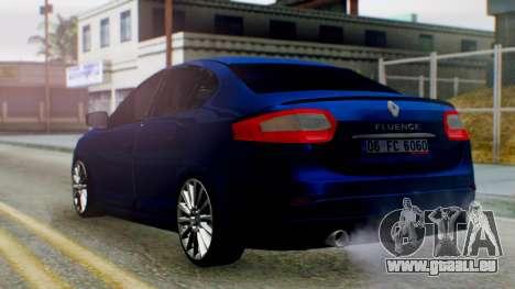 Renault Fluence King pour GTA San Andreas laissé vue