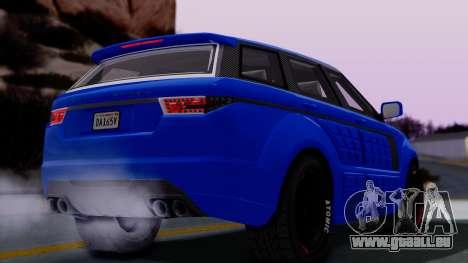 GTA 5 Gallivanter Baller LE Arm pour GTA San Andreas sur la vue arrière gauche