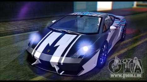 Lamborghini Gallardo LP560 PJ pour GTA San Andreas vue arrière