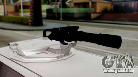 GTA 5 Benefactor Stretch E Turreted IVF pour GTA San Andreas sur la vue arrière gauche