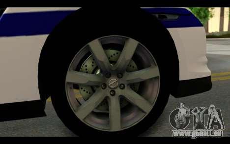 Nissan GT-R Policija pour GTA San Andreas vue arrière