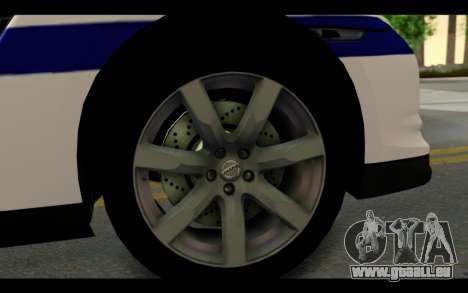 Nissan GT-R Policija für GTA San Andreas Rückansicht