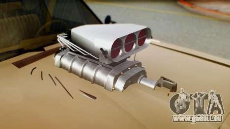 Dodge Dart 1975 Estilo Drag für GTA San Andreas Rückansicht