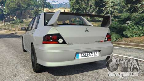 Mitsubishi Lancer Evolution VIII MR für GTA 5