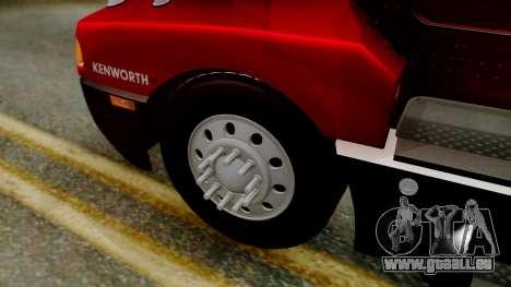 Kenworth T600 Aerocab 72 Sleeper pour GTA San Andreas vue de droite