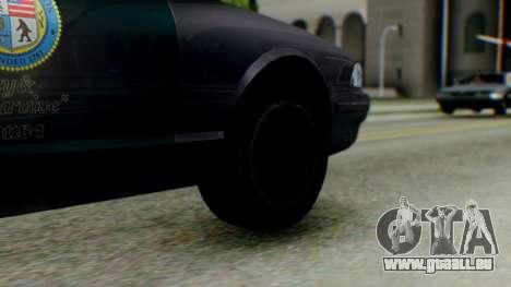GTA 5 Vapid Stanier II Police IVF für GTA San Andreas zurück linke Ansicht