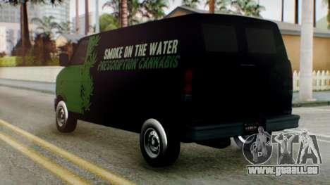 GTA 5 Brute Pony Smoke on the Water für GTA San Andreas linke Ansicht