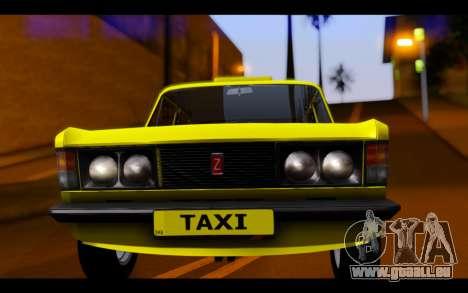 Zastava 125PZ Taxi pour GTA San Andreas vue arrière