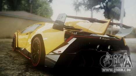 Lamborghini Veneno 2012 pour GTA San Andreas laissé vue