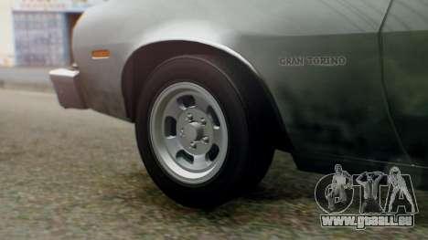 Ford Gran Torino 1974 IVF für GTA San Andreas Rückansicht