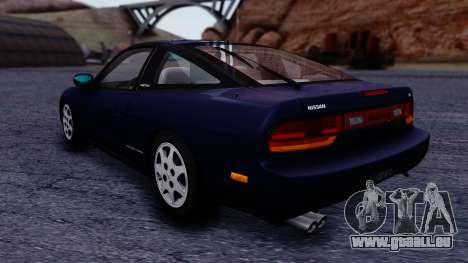 Nissan 240SX SE 1994 Stock pour GTA San Andreas sur la vue arrière gauche