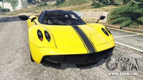 Pagani Huayra 2013 v1.1 [yellow rims] pour GTA 5