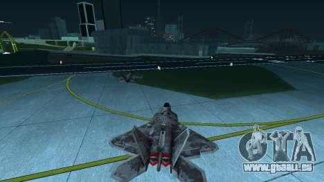 F-22 Raptor PJ für GTA San Andreas rechten Ansicht