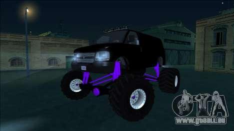 GTA 5 Vapid Speedo Monster Truck für GTA San Andreas Seitenansicht